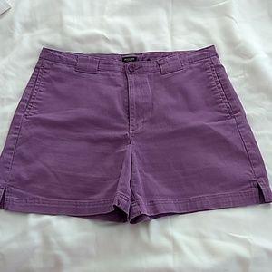 Women's Dockers Khaki Stretch Violet Shorts Sz 12
